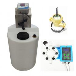 Conjunto para medicación en agua con bomba de impulsos